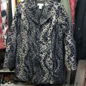 Susan graver black cheetah print